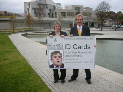 Margaret Smith MSP and John Barrett MP oppose ID cards